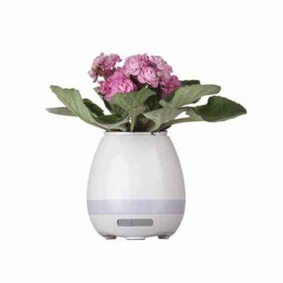 shopping-brindes - Caixa de Som Vaso com Sensor e Bluetooth