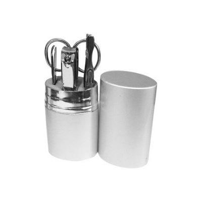 shopping-brindes - kit manicure 5 peças estojo aluminio