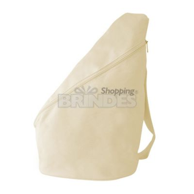 shopping-brindes - Mochila transversal em lona 100% algodão