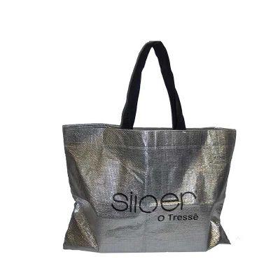 midnight-embalagens - Sacola metalizada prata