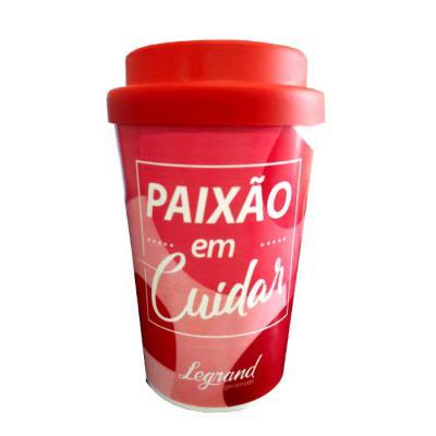 Copo para café Capacidade 400 ml Copo produzido em polipropileno Tampa emborrachada Material atóxico grau alimentício. - Master Coolers
