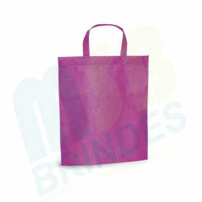 msb-brindes-personalizados - Sacola. Non-woven: 80 g/m². Termo-selado. Alças de 30 cm. 380 x 415 x 85 mm