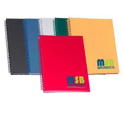 Caderno de negócios capa metalizada lisa pequeno