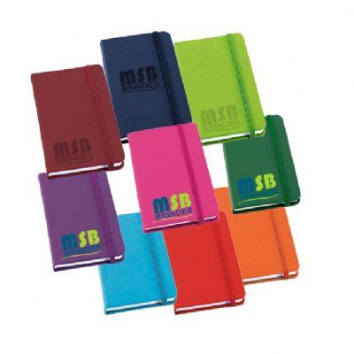 MSB Brindes personalizados - Caderneta Tipo Moleskine Bloco de anotações 90 x 140 mm