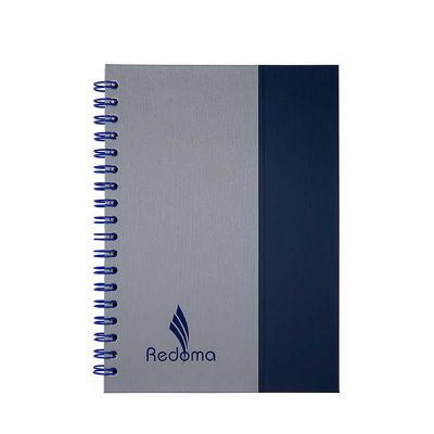 redoma - Contém 352 páginas Disponível nos tamanhos 13,8 x 20 cm e 17 x 24 cm  Impressão do miolo em cinza e azul Marcador de páginas Acabamento no wire - o Di...
