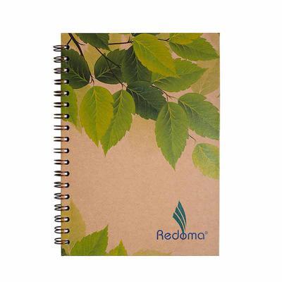 Caderno Eco Personalizado.  Tamanho 17x24 com 192 páginas.  Impressão em cinza no papel off set branco.  Incluso porta caneta. - Redoma