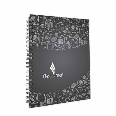 Redoma - Caderno médio com capa dura pautado,  várias opções de personalização interna e externa.  Formato:  17 x 24 cm  192 Páginas