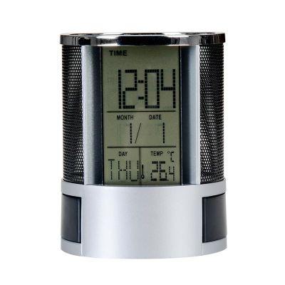 Mil Bolsas & Brindes - Porta caneta com relógio digital