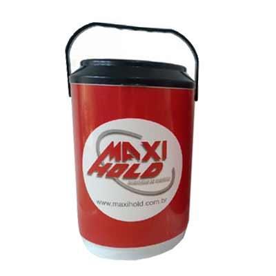 Produto para acondicionar latas/garrafas ou gelo mantendo a temperatura interna gelada por mais t...