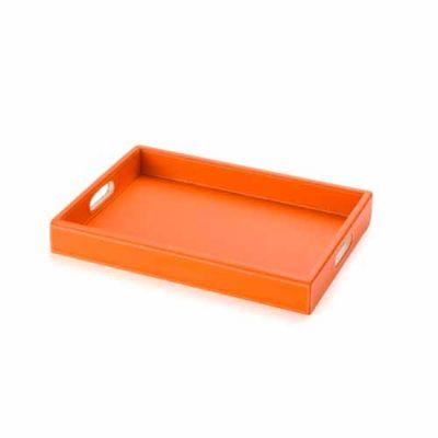 Leve Couro - Bandeja de couro sintético com alça, tamanho aproximado 40x30 cm.