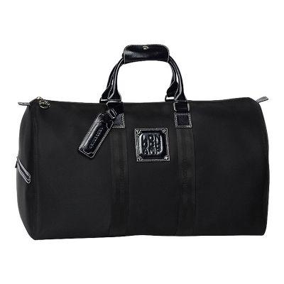 Leve Couro - Bolsa de viagem em nylon prada com detalhes em couro