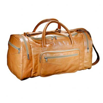 Leve Couro - Bolsa de viagem com bolso frontal e laterais com alça de ombro