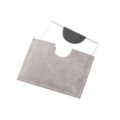 Leve Couro - Espelho para bolsa, confeccionado em couro ou sintético.