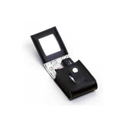 Leve Couro - Porta batom duplo confeccionado em couro ou sintético