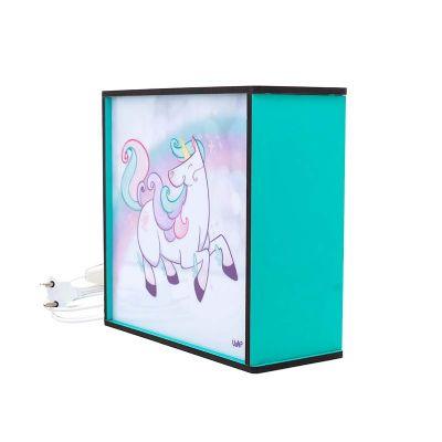 uatt-presentes-importados - Luminária box - unicórnio