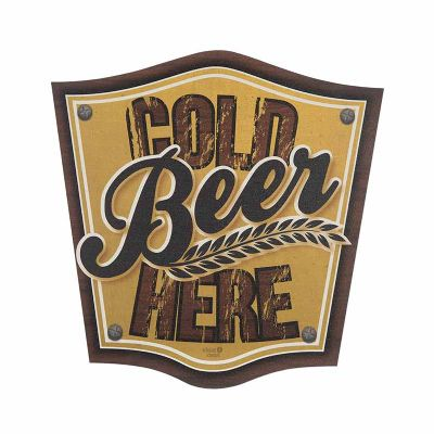 Placa decorativa - Cold Beer