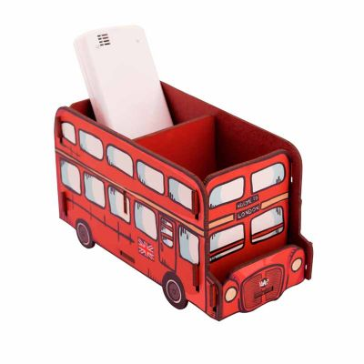 uatt-presentes-importados - Porta objetos madeira - ônibus London