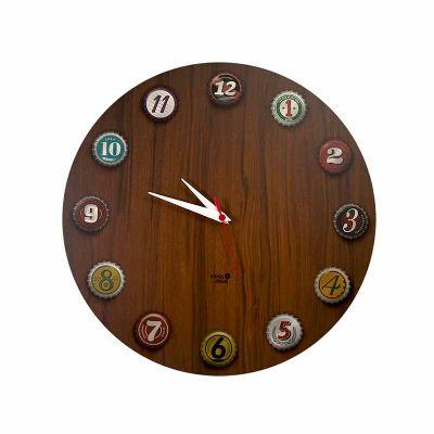 Relógio - tampinhas