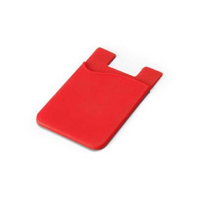 Porta cartões para smartphone. Em material PVC. Com autocolante. - Lira Brindes