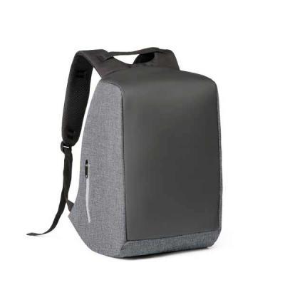 Lira Brindes - Mochila antifurto para notebook. Em poliéster de alta densidade e lona. Bolso principal com zíper escondido e parte posterior com 2 bolsos escondido c...