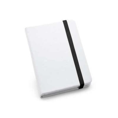 Lira Brindes - Caderneta capa dura em material couro sintético na cor branca. Possui 80 folhas lisas.