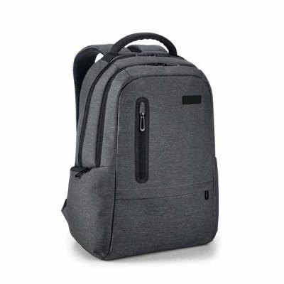 Lira Brindes - Mochila para notebook em material nylon impermeável. Com 2 compartimentos. Divisória almofadada para notebook até 17 polegadas. Com porta USB. Acompan...