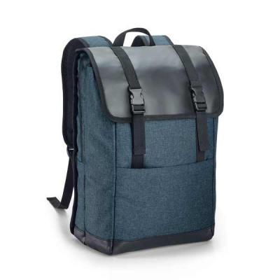 Mochila com fecho para notebook. Possui 2 compartimentos, compartimento forrado, com diversos bolsos interiores e 2 divisórias almofadadas para notebo... - Lira Brindes