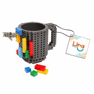 Lira Brindes - Caneca de 420 ml inspirada no jogo Lego, seu modelo permite que você customize seu copo em diferentes formas.