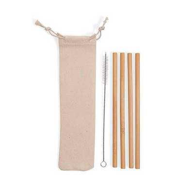 Kit De 4 Canudos com Escova e Embalagem De Algodão Personalizado