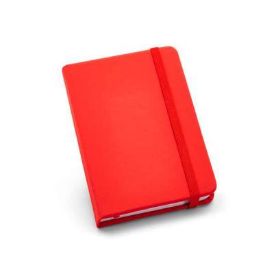 Lira Brindes - Caderneta capa dura em material couro sintético com elástico. Possui 80 folhas lisas. Diversas cores para combinar com sua marca, em proporção portáti...