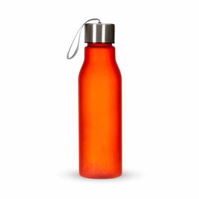 lira-brindes - Squeeze em material plástico e capacidade 600ml com pintura leitosa. Colorido e com tampa inox rosqueável, acompanha alça de nylon.