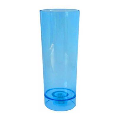 Copo Led Long Drink Acrílico Azul Cristal
