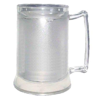 O Mundo das canecas - Caneca de Chopp Parede Dupla 400 ml Acrílico PS Cores à Escolher