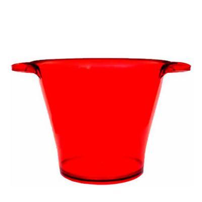 Compre Balde Vermelho de Gelo em Acrílico (PS) Personalizados aqui direto da fábrica. Excelente item promocional para impressionar seus clientes. Ele... - O Mundo das canecas