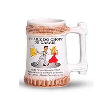 Canecas personalizadas de chopp de cerâmica 310ml full-collor - O Mundo das canecas