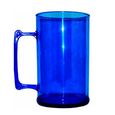mundo-das-canecas - Caneca de Chopp de Acrílico 400ml Azul Cristal
