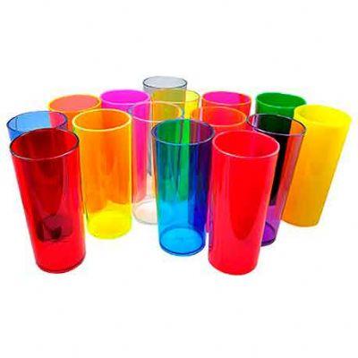 O Mundo das canecas - Long Drink liso copo 300 ml acrílico (PS cristal ou opaco) Atacado & Varejo sem gravar