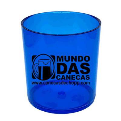 O Mundo das canecas - Copo Personalizado para Whisky em Acrílico Azul