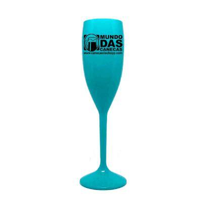 O Mundo das canecas - Taças de acrílico Azul Tifanny (PS) 160 ml