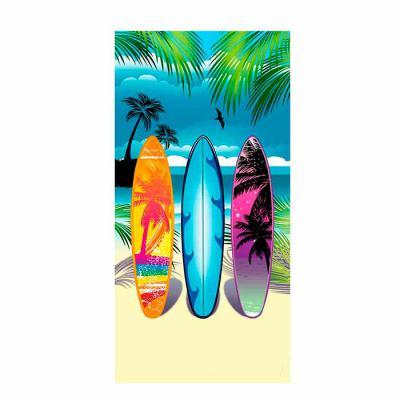 Toalha de Praia Personalizada confeccionada em 50% Algodão 50% Poliéster.  Tamanho Aproximado 70x1,40cm 250g. Gravação em Sublimação. - Power Camisetas e Brindes