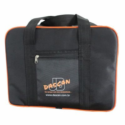 Dascan - Bolsa térmica feita em nylon, com bolsos na frente e na parte de trás, com acabamento de alta qualidade e personalização em silk-screen.  Dimensões: 4...