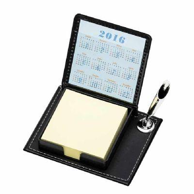 Arena Brindes - Bloco de anotações de mesa personalizado com caneta