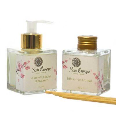 Perfume no Ar - Kit aromático cubo 100ml - Frascos de vidro