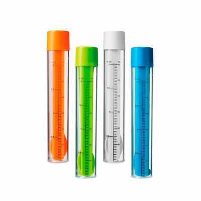 Kit de coquetel. Acompanha: - Dosador/agitador com escala de medição em ml e fl oz  com Capacidade: 60 ml.  - 2 mexedores - 1 pinça para gelo  - 1 col... - Thap  Brindes