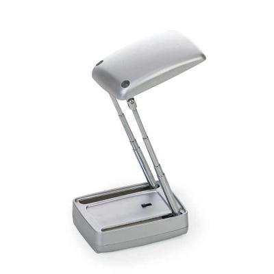 Luminária Personalizada. Luminária plástica retangular dupla e retrátil.  Para utilizar a luminária interna basta levantar a parte superior e ajustar... - Thap  Brindes