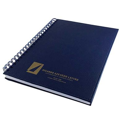 Thap  Brindes - caderno com capa em couro