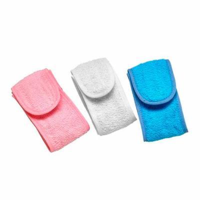 Faixa atoalhada personalizada.material com 95% algodão, Produto não perecível. Fechamento em Velcro. Usada para proteger os cabelos durante a limpeza... - Thap  Brindes