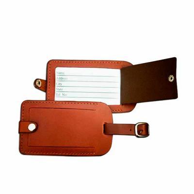 thap-papeis-e-brindes - Linda tag de Mala em couro sintético com gravação em baixo relevo. Material vip e de altíssima qualidade.