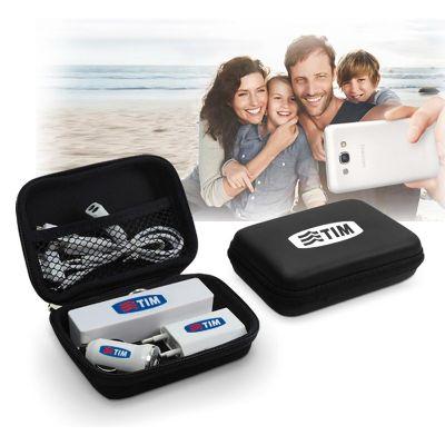 HR Brindes Promocionais - Kit carregador USB