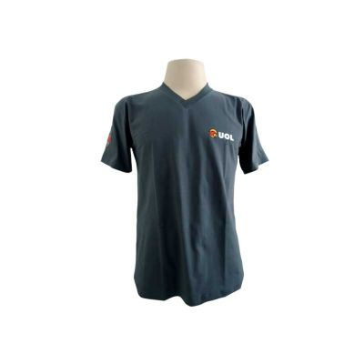 fit-promocionais - Camisa algodão gola v